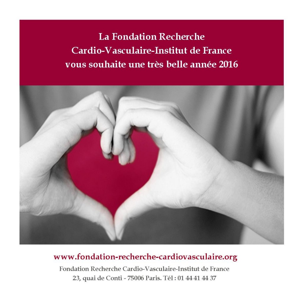 Voeux Fondation Recherche Cardio Vasculaire 2016 version 2