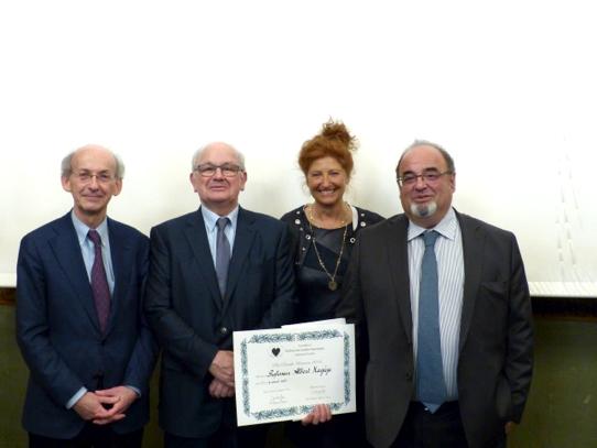 Professeur Philippe Ménasché, Professeur Michel Desnos, Docteur Catherine Llorens-Cortes, Professeur Albert Hagège