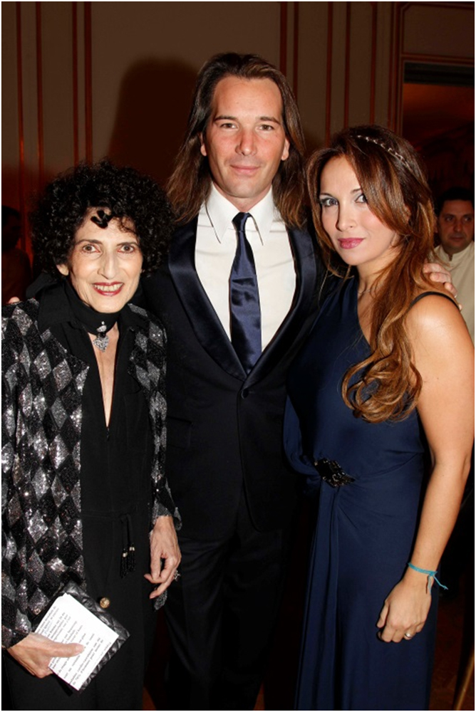Galas of the cardio vascular research foundation - Helene carrere d encausse et son mari ...